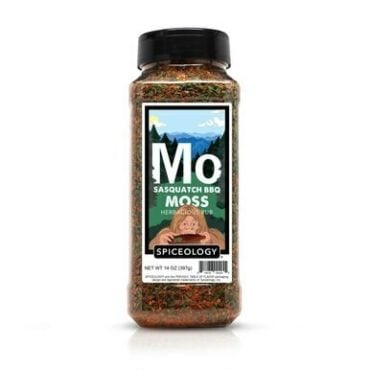 Sasquatch BBQ Moss seasoning in container