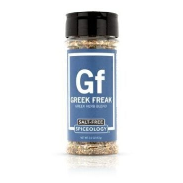 Breakfast Blends salt-free Greek Freak seasoning in 3oz jar