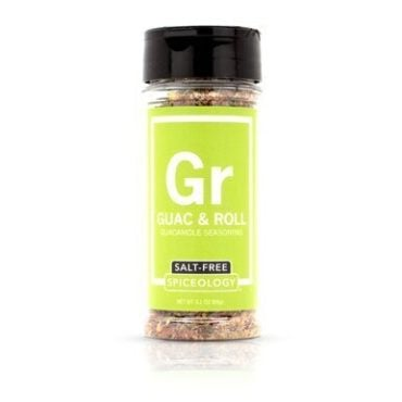 Breakfast Blends salt-free Guac and Roll seasoning in 3oz jar