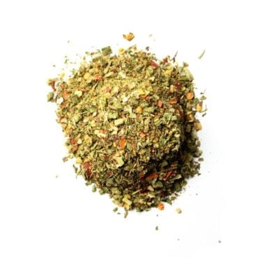 Derek Wolf Garlic Herb Rub is used for chicken, lamb, egg skillets or vegetables