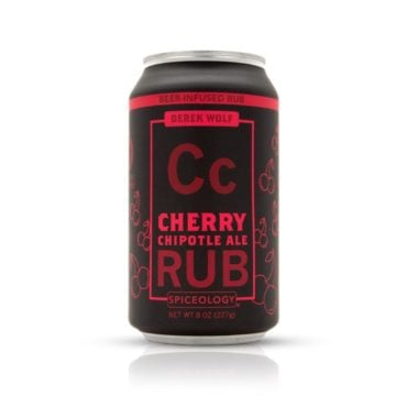 Derek Wolf Cherry Chipotle Ale meat rub 8oz can