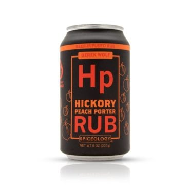 Derek Wolf Hickory Peach Porter meat rub 8oz can