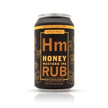 Derek Wolf Honey Mustard IPA meat rub 8oz can
