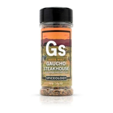 Derek Wolf Gaucho Steakhouse seasoning for bbq chicken breast, salmon and grilled pork chops 3.3oz
