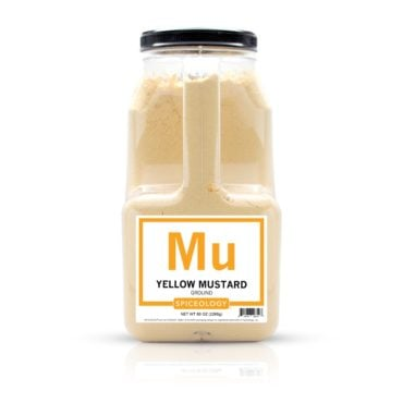 Ground Yellow Mustard in 80oz container