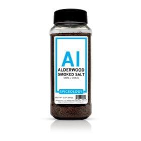 Alderwood Smoked Salt in 32oz container
