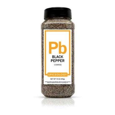Black Pepper, Coarse in 16oz container