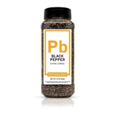 Black Pepper, Extra Coarse in 16oz container