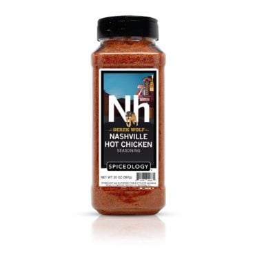 Derek Wolf Nashville Hot Chicken BBQ Rub in 20oz container