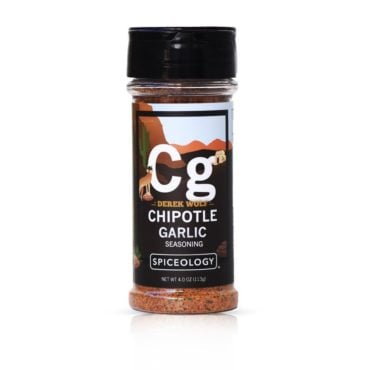 Derek Wolf Chipotle Garlic BBQ Rub in 4oz container