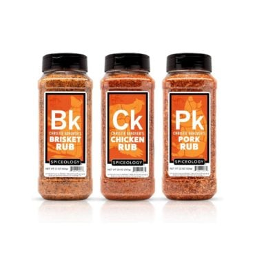 Christie Vanover Pitmaster Pack of 20oz containers for Brisket Rub, Pork Rub and Chicken Rub