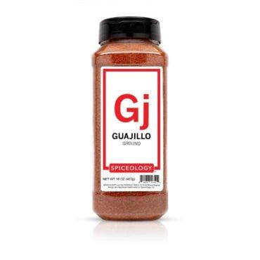 Ground Guajillo Chile in 16oz container