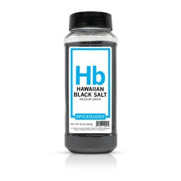 Hawaiian Black Salt in 32oz container