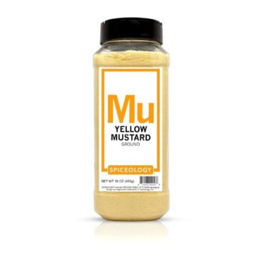 Ground Yellow Mustard in 16oz container
