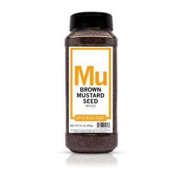 Brown Mustard Seed in 24oz container