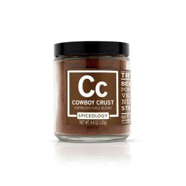 Cowboy Crust Espresso Chile Rub in 4.4oz Glass Jar