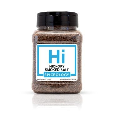 Hickory Smoked Salt in 8oz container
