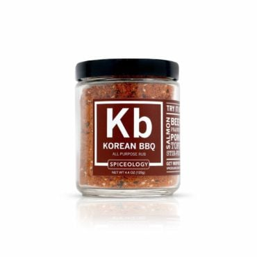 Veggie Lovers Korean BBQ vegetable seasoning in 4oz jar