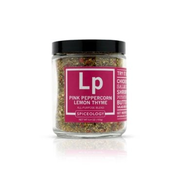 Pink Peppercorn Lemon Thyme All-Purpose Rub in 5.4oz Glass Jar