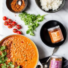 Cream coconut lentil curry