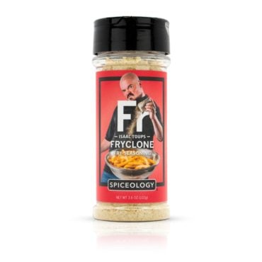 Isaac Toups Fryclone Fry Seasoning in 3.6oz container