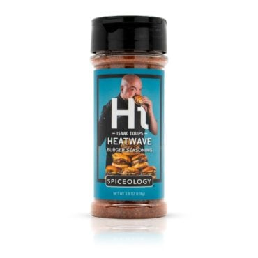Isaac Toups Heatwave Burger Seasoning in 3.8oz container