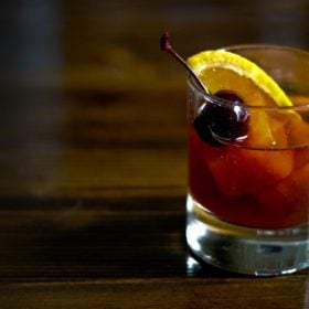 Smoky Old Fashioned cocktail