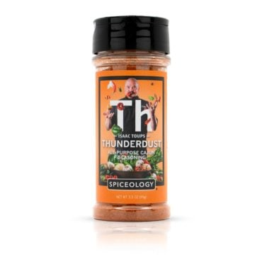 Isaac Toups Thunderdust All-Purpose Cajun Seasoning in 3.5oz container