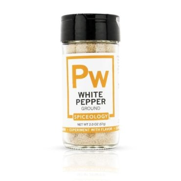 Pepper, White in 2oz Glass Jar