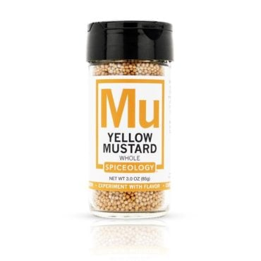 Mustard Seed, Yellow in 3oz Glass Jar