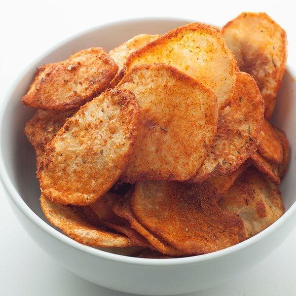 Black and bleu potato chips