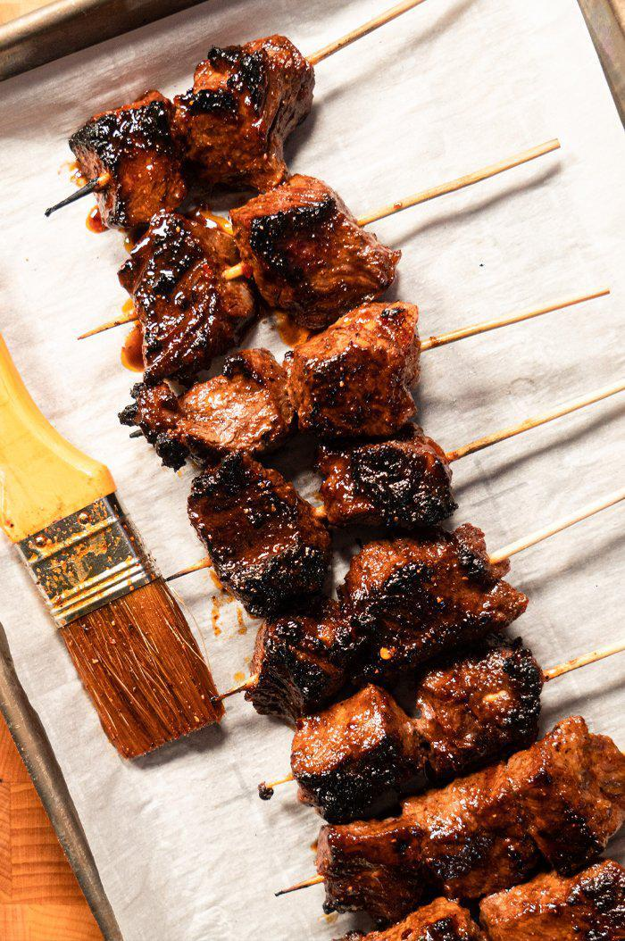 Cherry Chipotle Ale Skewers