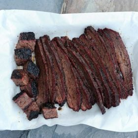 Christie Vanover sliced BBQ brisket