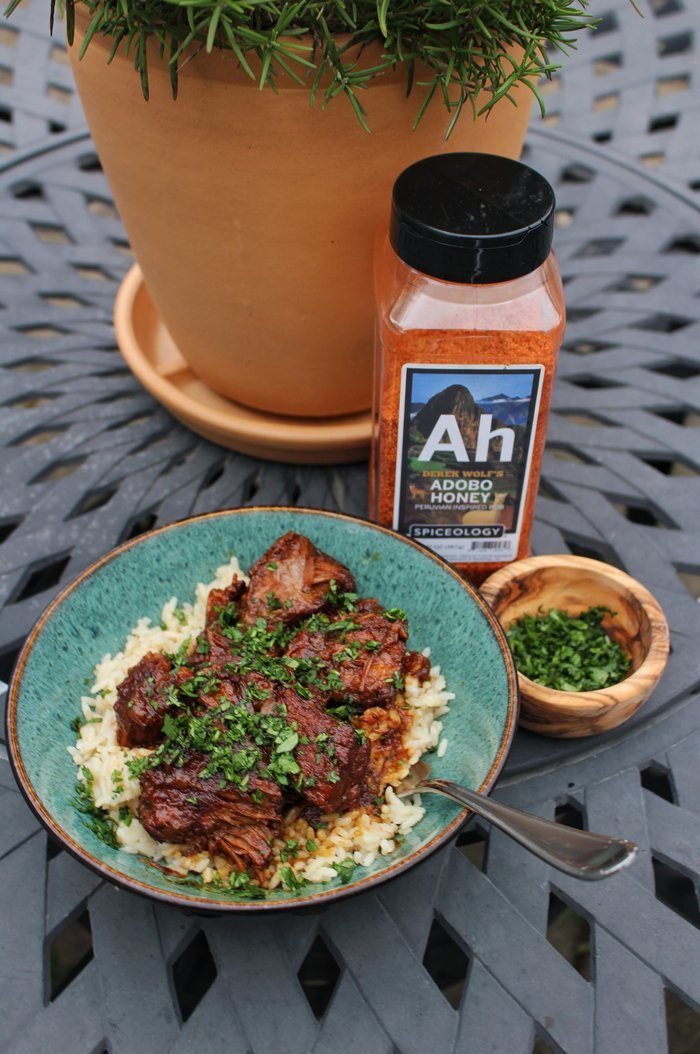 ADOBO HONEY BRAISED PORK Recipe by: Derek Wolf