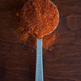 Steak seasoning in a tablespoon