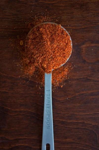 Steak seasoning in a tablespoon
