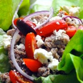 Learn how to make delicious greek turkey lettuce wraps