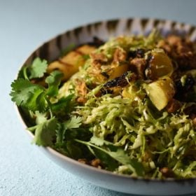 Hawaiian brussels sprouts salad