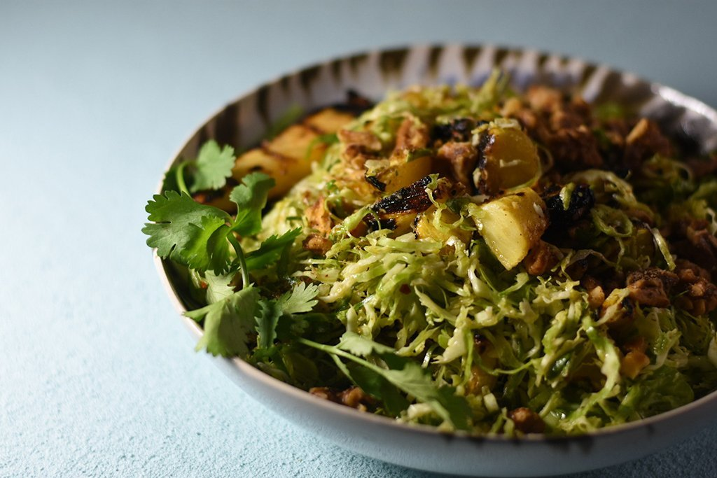 Hawaiian Shaved Brussels Sprouts Salad Recipe
