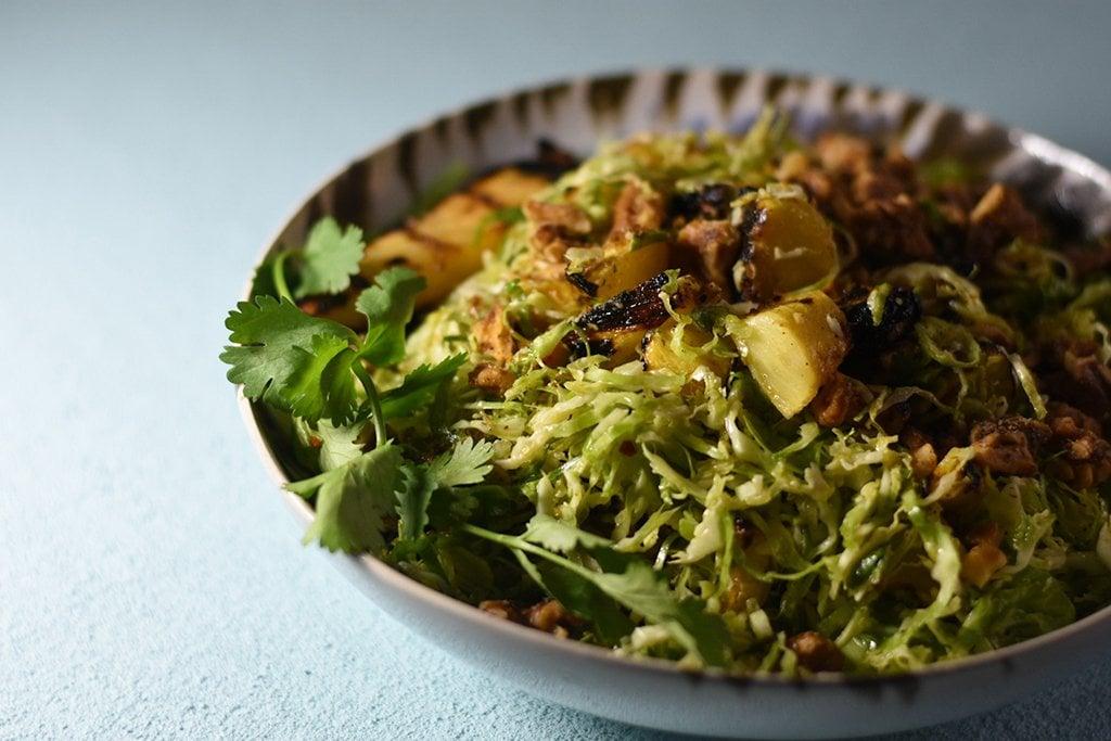 Hawaiian brussels sprouts salad