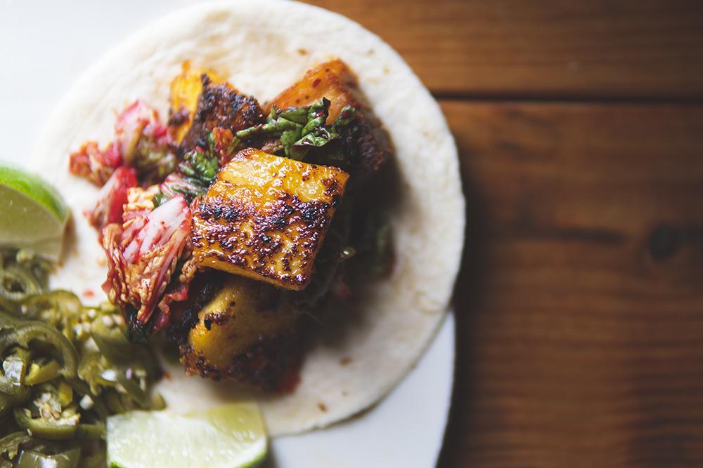 Korean BBQ Pork Belly Tacos