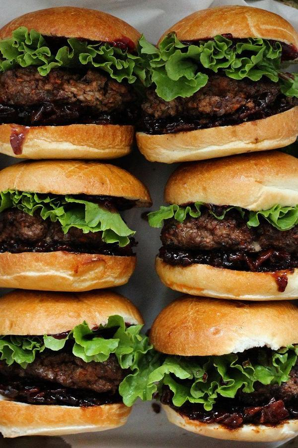 Peanut butter and jelly burgers