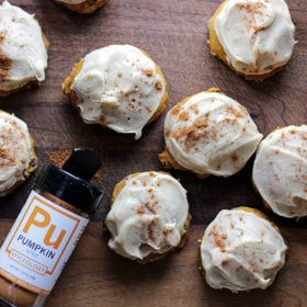 Pumpking spice cookies with frosting