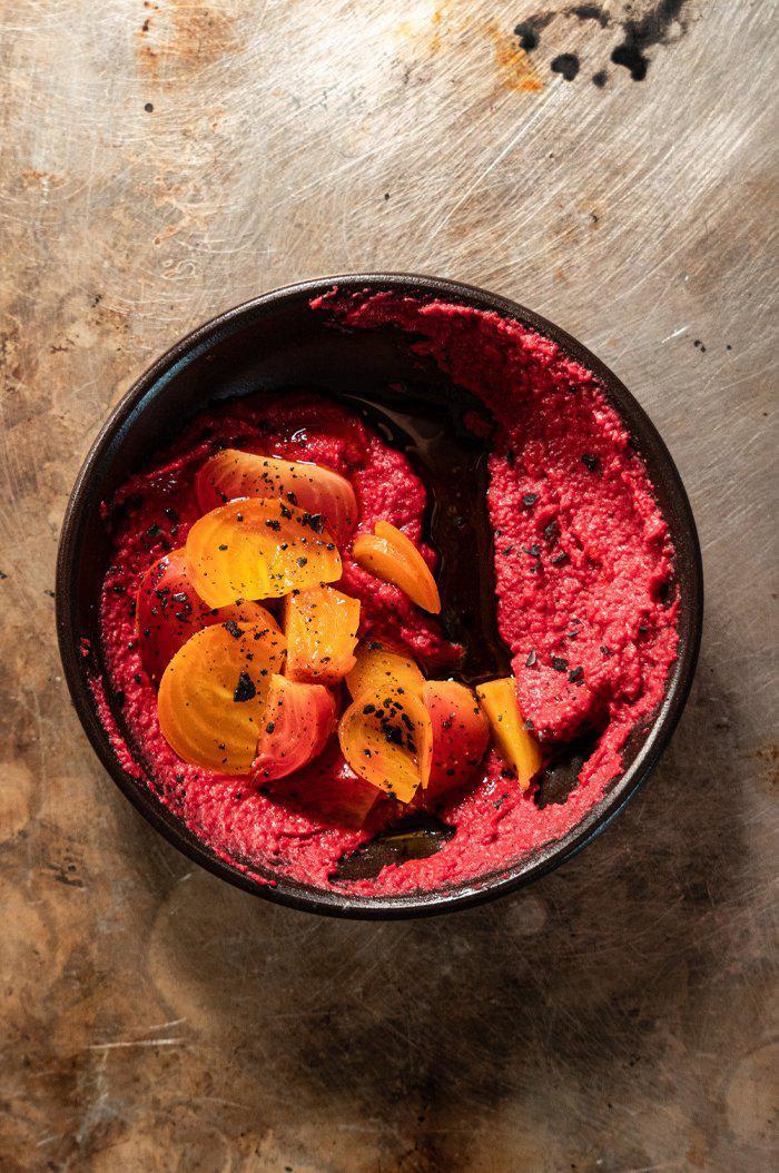 Raspberry Chipotle Beet Hummus