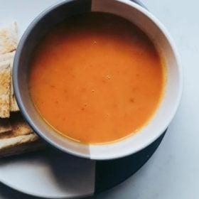 salt free tandoori glory carrot soup