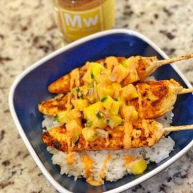 Maui Wowee chicken skewers