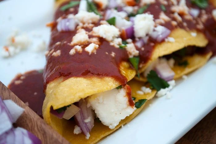Street tacos on a plate