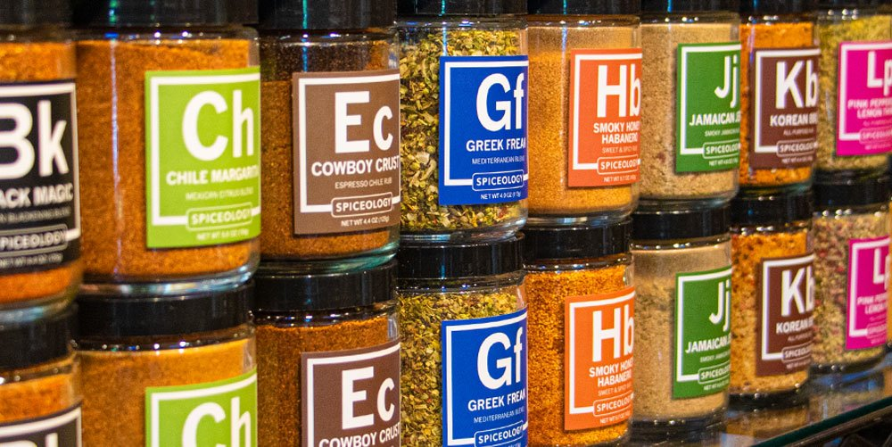 Spiceology home cook collection lineup of jars