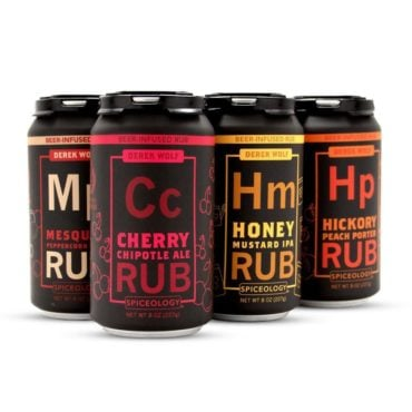 Derek Wolf 6 pack beer rub sampler