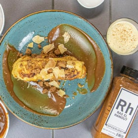 Ras el Hanout Egg Nog with french toast